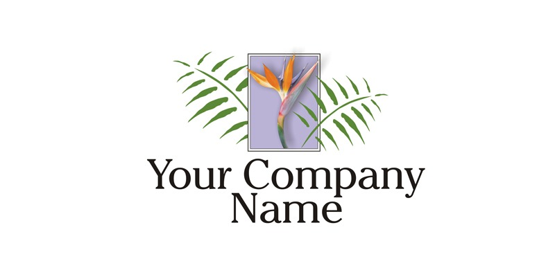Logo for Sale feturing a bird of paradise flower.