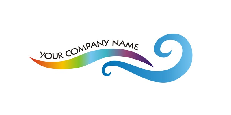 Logo for Sale with a rainbow water like effect.
