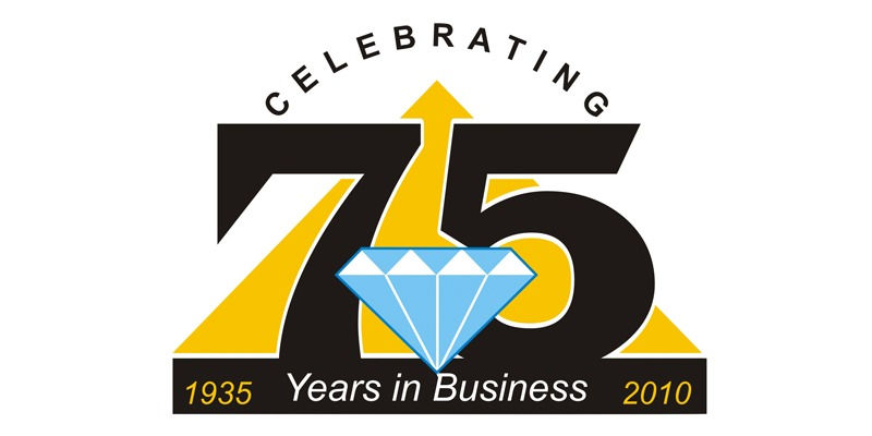 J H Williams 75 years logo